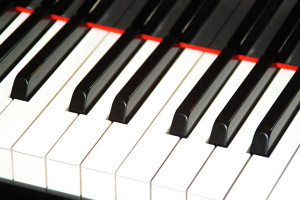Picture of a Grand Piano Keyboard