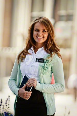female mormon misionary