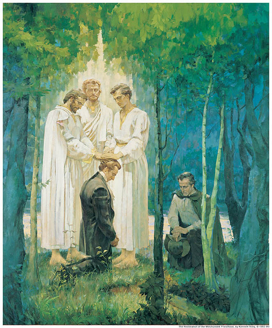 Joseph Smith receives Melchizedek Priesthood