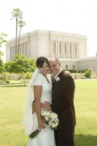 Mormon wedding Mesa Temple
