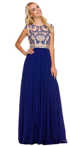 Modest blue gown