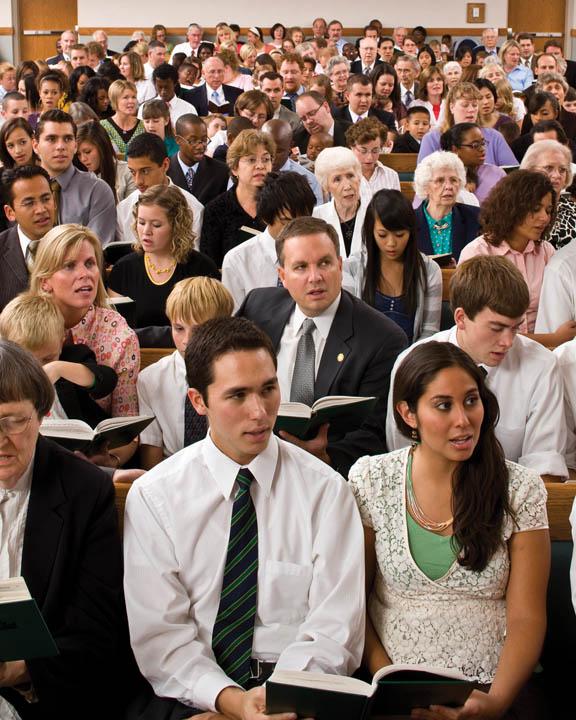 Mormon congregation