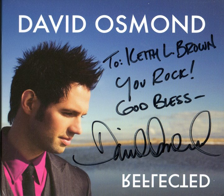 Autographed CD from David Osmond