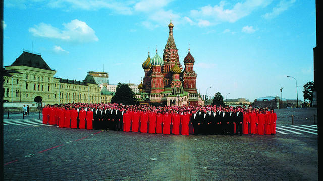 Mormon Tabernacle Choir in Russia at St. Basils Cathedral 1991