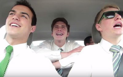 Mormon Missionaries Also Take Time For Some Fun