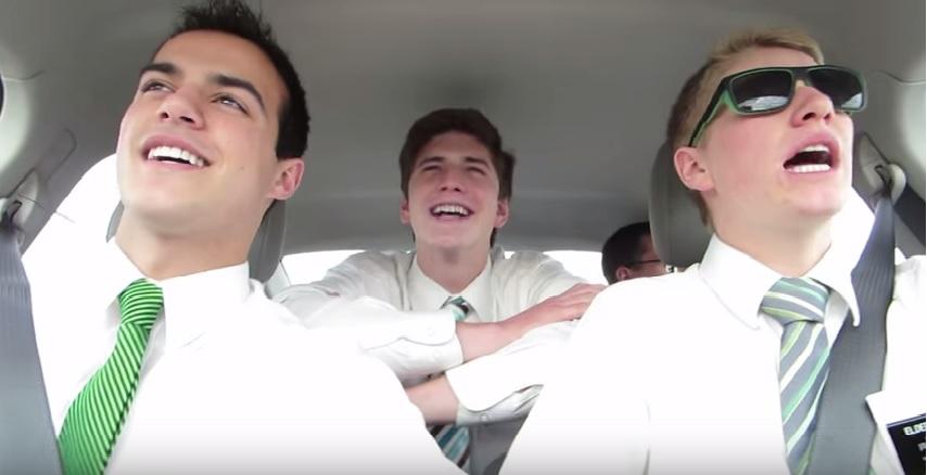 New York Missionaries Singing in Car