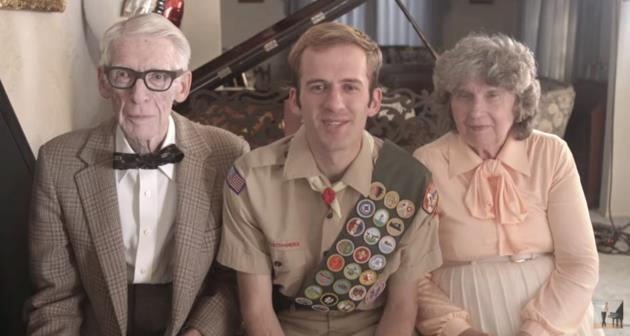 Jason Lyle Black with his grandparents