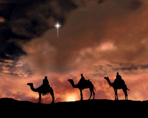 Wise Men travel to Bethlem