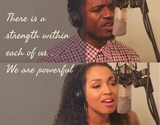"Yahosh Bonner and Brittany Williams Dynamic Cover of ""Powerful"""