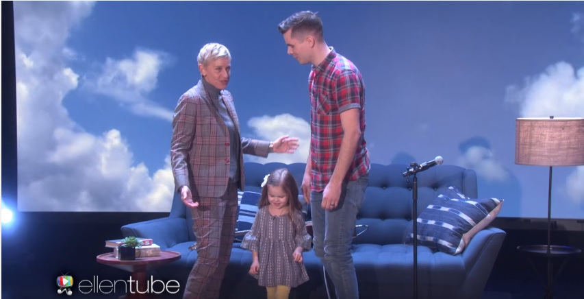 Claire Ryann and Dad on Ellen