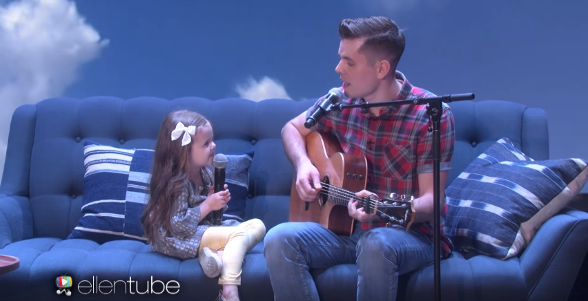 "Claire Ryann and Dad Appear on Ellen Show After Video of ""You Got a Friend in Me"" Goes Viral"
