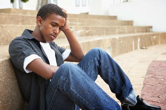 depressed African-American teenager