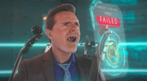 Steven Sharp Nelson from the Piano Guys failed the Lindsey Stirling impression