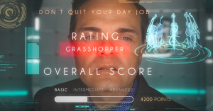 Steven Sharp Nelson from the Piano guys gets grasshopper rating on his performance.