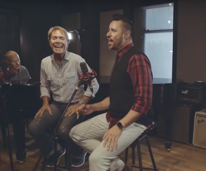 Cliff Richard singing It's Gonna Be Okay with The Piano Guys