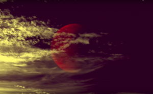 """red moon in """"Sign of the Times"""" cover by Paul Cardall"""
