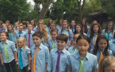 The One Voice Children's Choir Delight the French People with Their Musical Talents