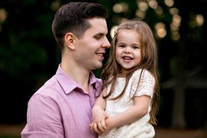 Claire Ryann Crosby and her dad