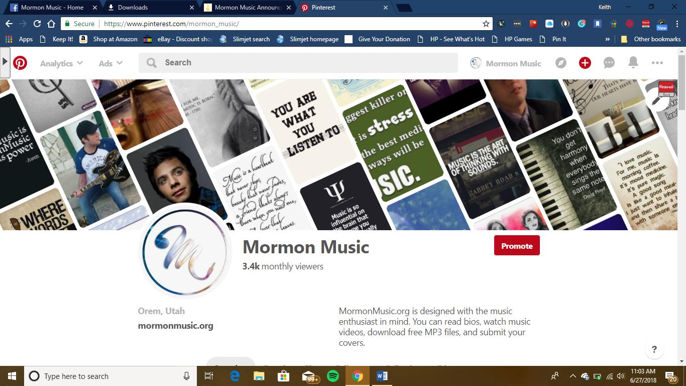 Latter-day Saint Musicians Pinterest Boards