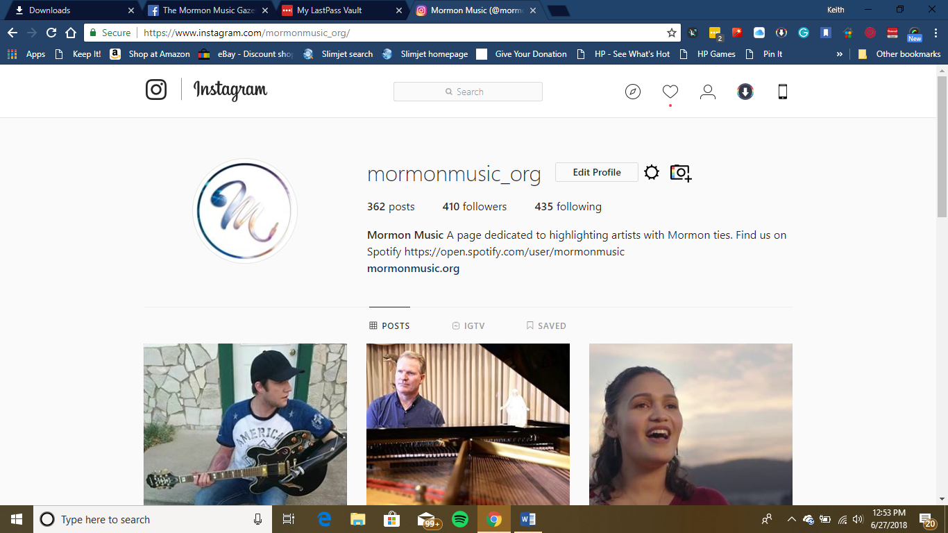 Latter-day Saint Musicians Instagram Page