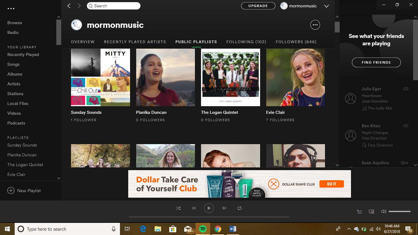 Mormon Music Spotify