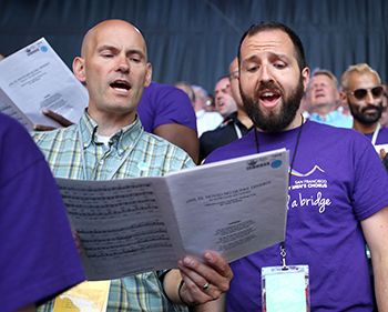 The Mormon Tabernacle Choir and the San Francisco Gay Men's Chorus Blend Their Voices to Build Musical Bridges of Understanding and Unity