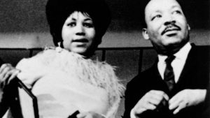 Aretha Franklin and Martin Luther King, Jr.