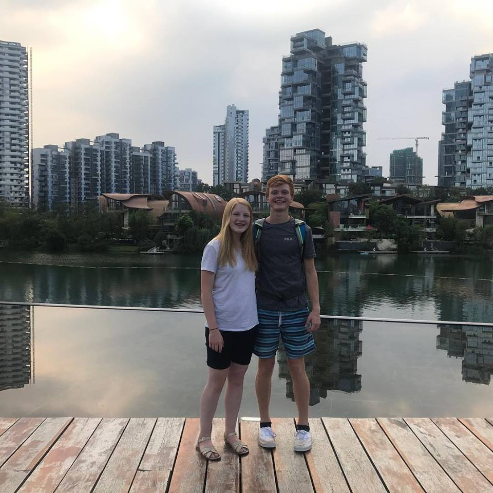 Branson and maisy Anne - China