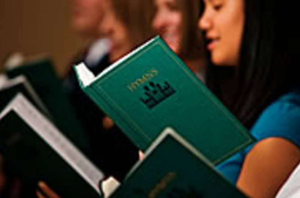 LDS congregation singing hymns